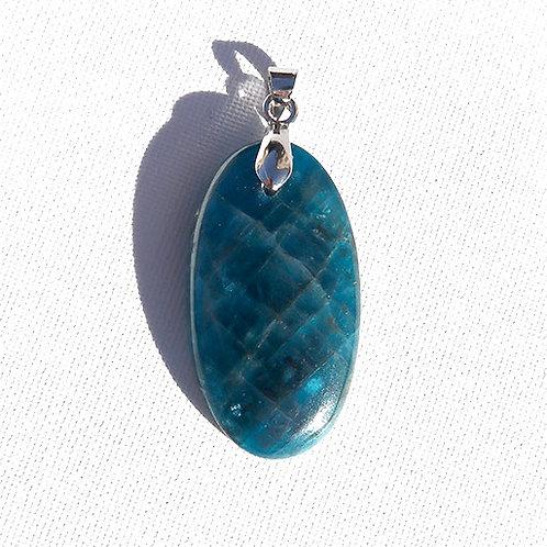 Pendentif Apatite bleue