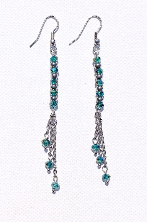 Boucles d'oreilles cristal de Bohème et acier inoxydable