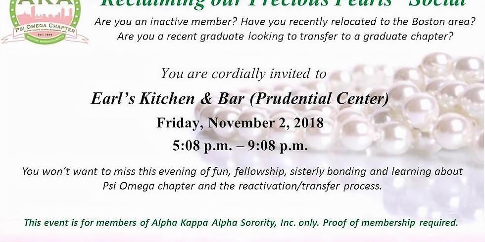 """""""Reclaiming our Precious Pearls"""" Social (SORORS ONLY)"""