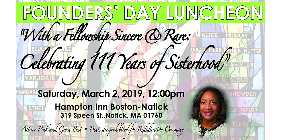 Founders' Day Luncheon (SORORS ONLY)