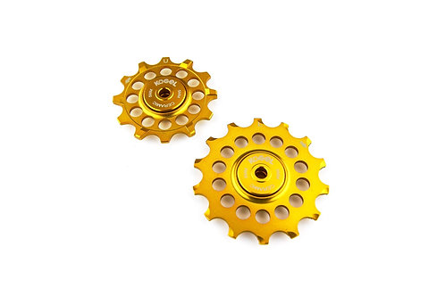 Midas Gold 12/14T Oversized pulleys for Shimano road derailleurs