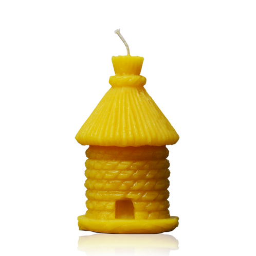 PURE BEESWAX CANDLE - BEEHIVE HOUSE - 90mm