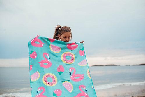 FLAMINGO Kids Sand Free Beach Towel (120x70cm)
