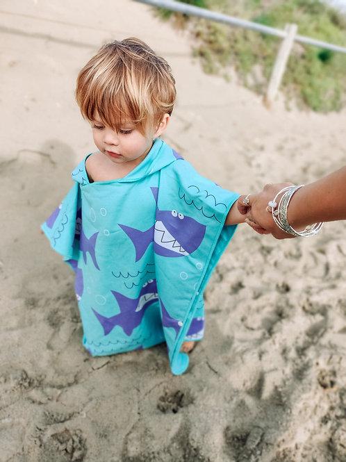 SHARK Kids Hoodie Towel (120x60cm)