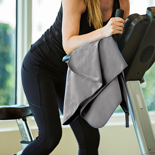 Microfiber Travel Towel (120x60cm) & Mesh Carry Bag