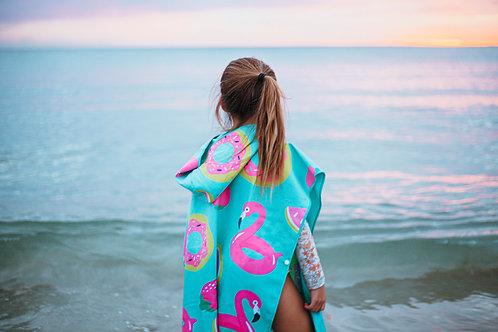 FLAMINGO Kids Hoodie Towel (120x60cm)