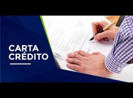 Carta de crédito de FGTS.