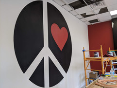 One Love Logo Mural