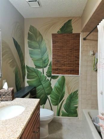 Tropical Leaves Mural