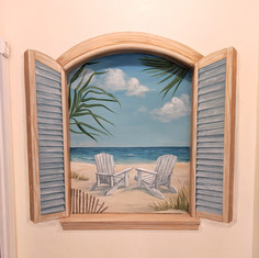 Tropical Window Mural