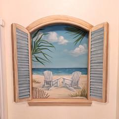 Tropical Window Mural