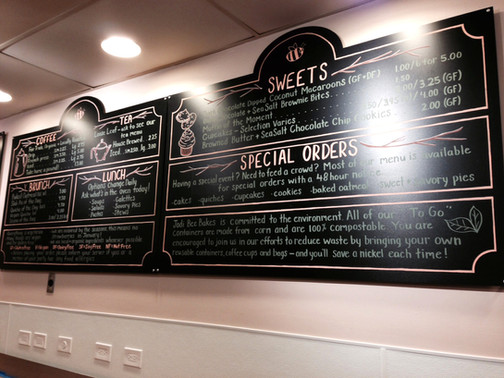 Bakery Menu Board