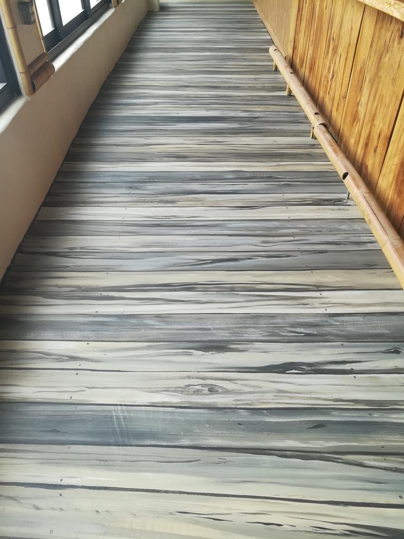 painted concrete floor