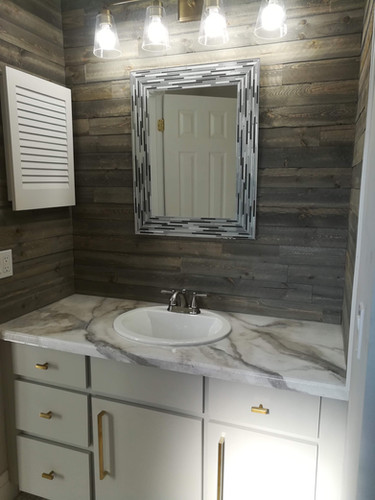 faux painted marble countertop
