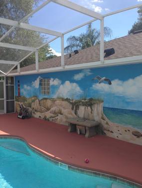 Pool Beach Mural