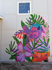 Frida Kahlo Mural for Jane's Art Center