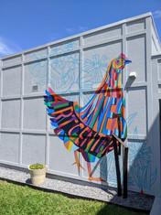 Jane's Art Center Chicken Mural