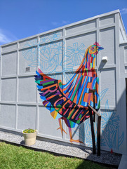 Jane's Art Center Chicken Mural
