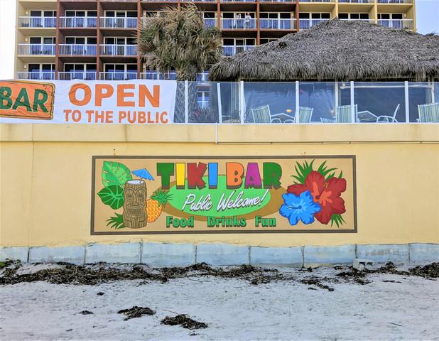 Hampton Inn Tiki Bar Sign