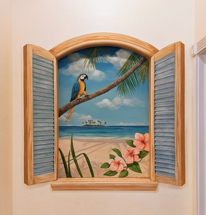 Tropica Window Mural