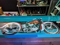 Vintage Harley Davidson Bar Top