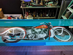 Vintage Harley Davidson Bar Top