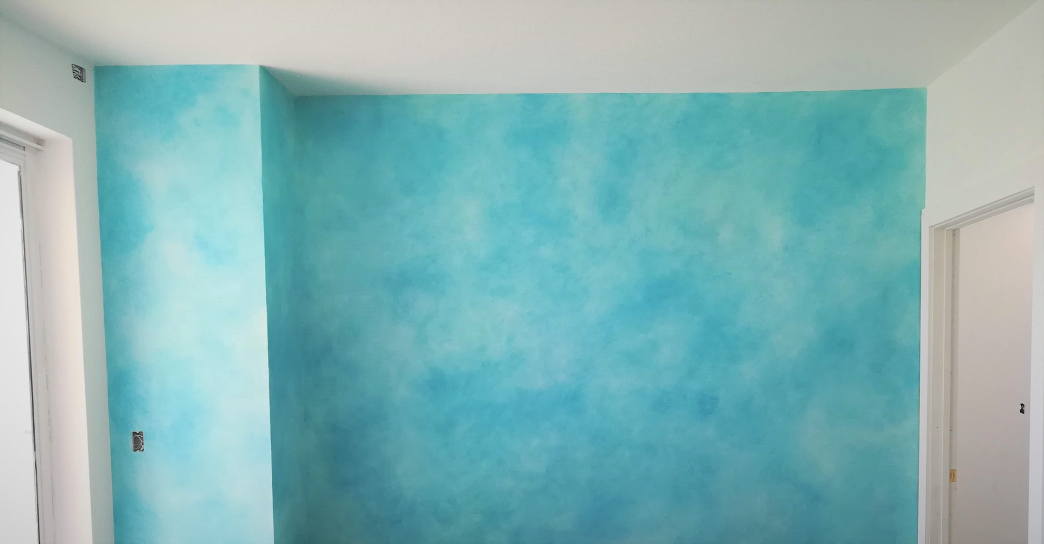 ocean water color wash
