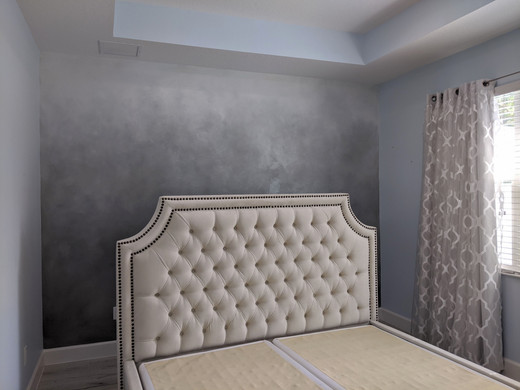 silvery ombre wall