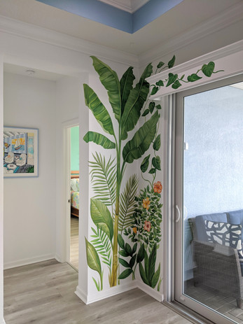 Tropical Foliage Accent Mural