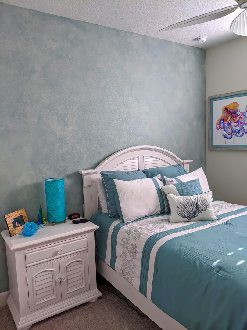 Watercolor Wash Accent Wall