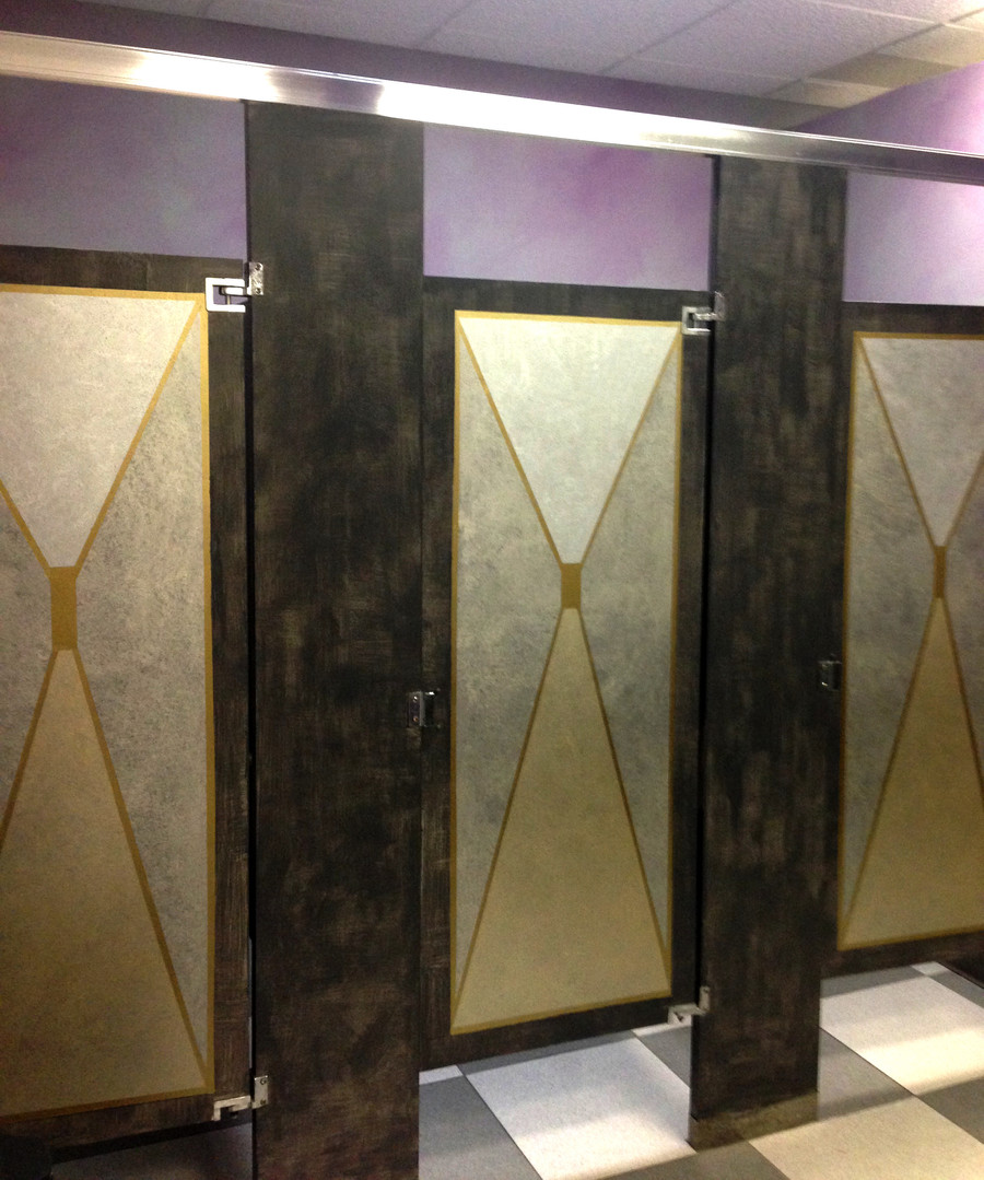 painted stall doors
