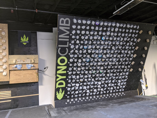 Custom Lettering for Climbing Gym