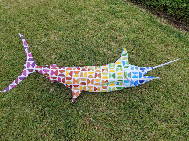 painted trophy fish