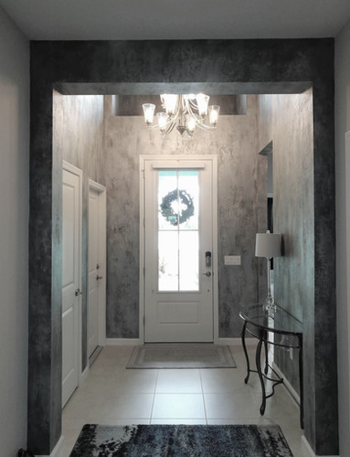 silver faux entry