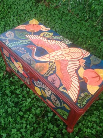 Painted Cedar Trunk
