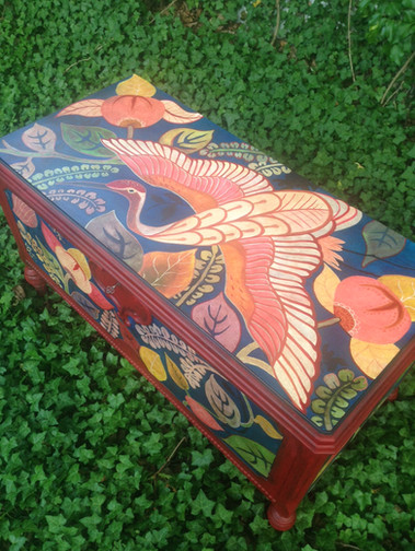 Painted Cedar Trunk