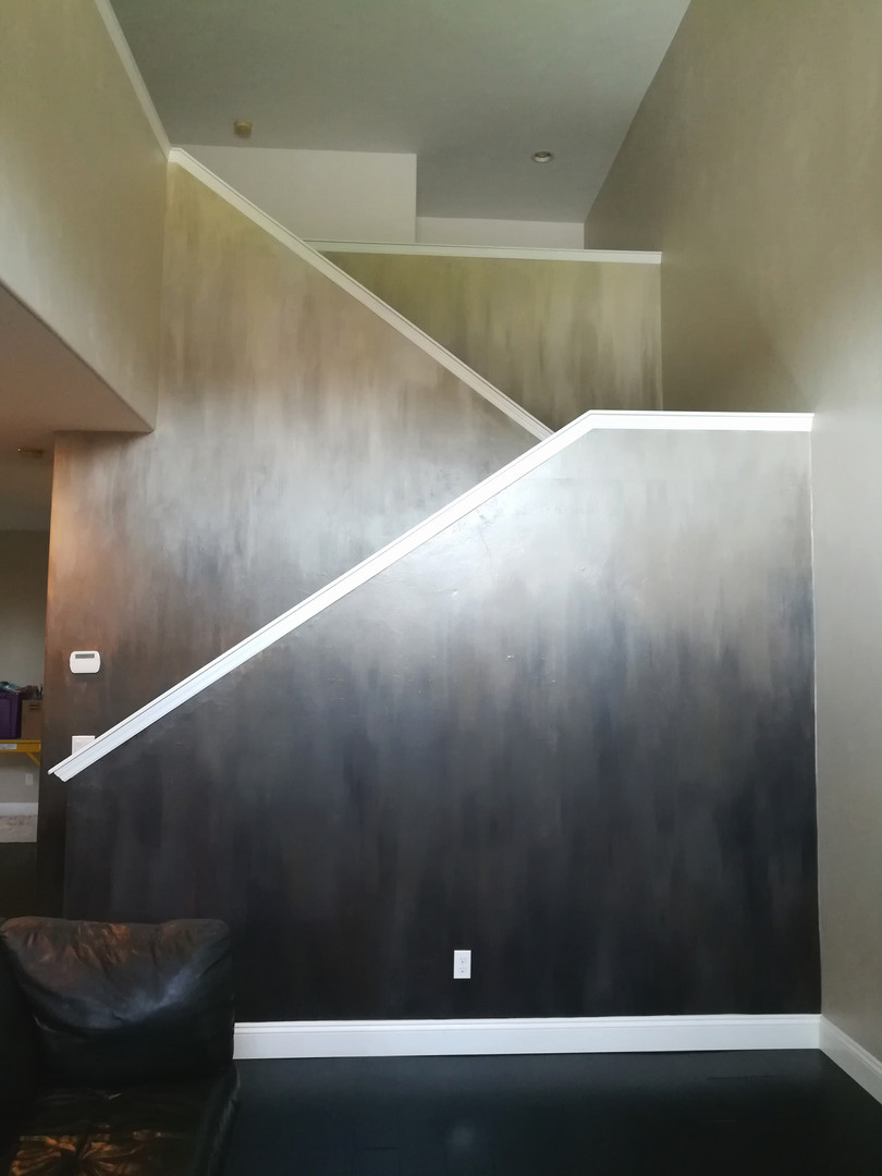 stairway wall faux