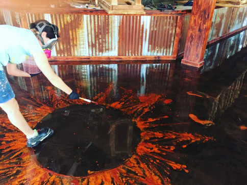 Painted Epoxy Floor