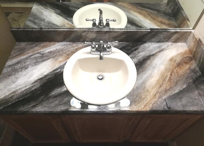faux granite countertop