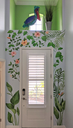 Tropical Foliage Entrance Mural