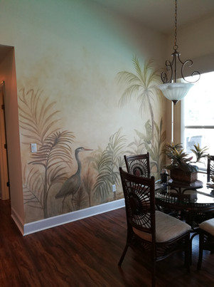 Native Plants and Bird Mural