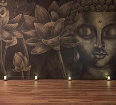 Buddha Yoga Studio Mural