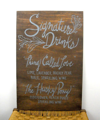 Painted Menu Board