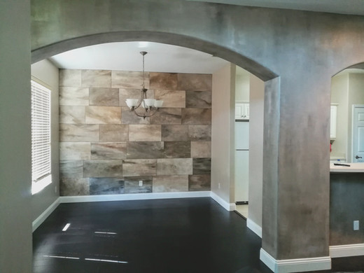 faux stone wall