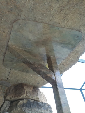 stone match on beam