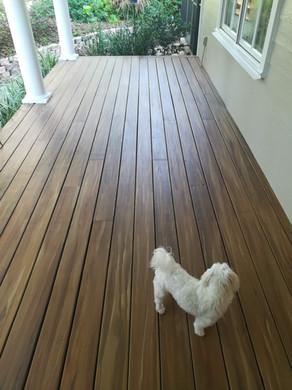 faux painted wood deck