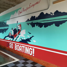 Retro Boating Mural