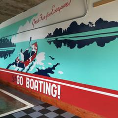 Retro Boating Mural