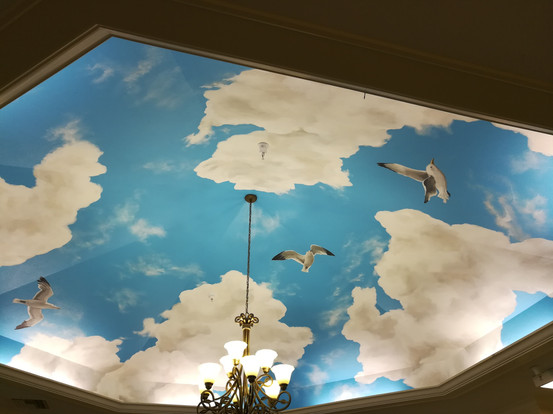 Sky Mural with Seagulls