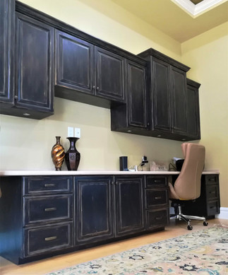 distressed painted cabinets